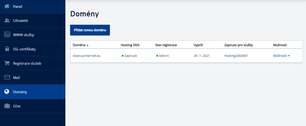 Jak delegovat doménu z IONOS na jiné DNS servery ?