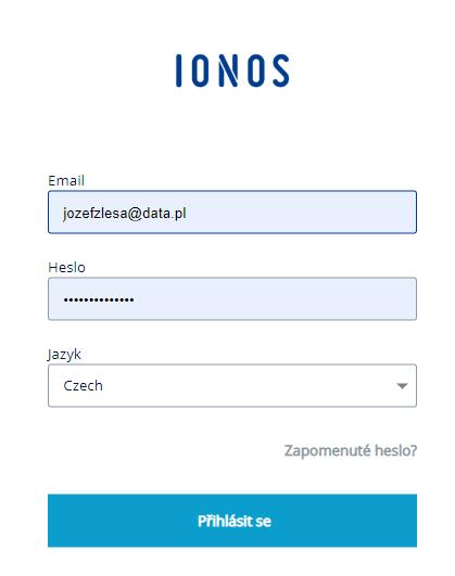 Jak se mohu přihlásit k Zákaznickému Panelu IONOS?
