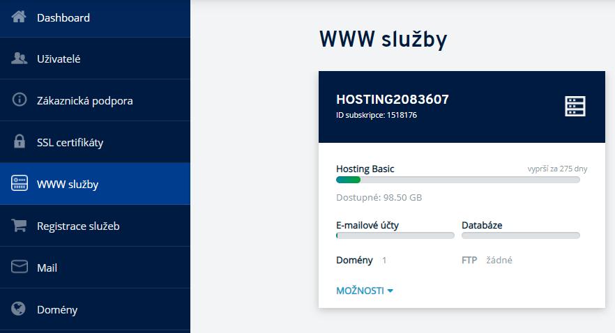 Jak přidat účet FTP do hostování na IONOS.cz?